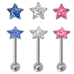 Austrian Gem Star Tongue Ring